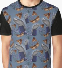 Canberra Owl - Blue Graphic T-Shirt