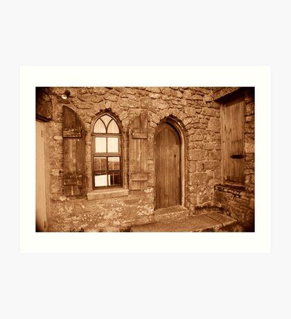 Carn Brea Castle Door:  Art Print