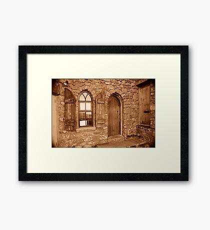Carn Brea Castle Door:  Framed Print