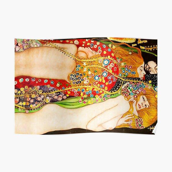 HD Water Snakes II, by Gustav Klimt 1907 HIGH DEFINITION Poster