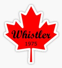 Whistler Canada 1975 Red Maple Leaf Color Sticker