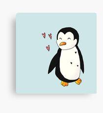 Loving Penguin Canvas Print