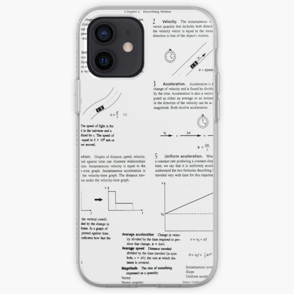 Concepts, speed, change, slope, velocity,  Acceleration, instantaneous, motion iPhone Soft Case