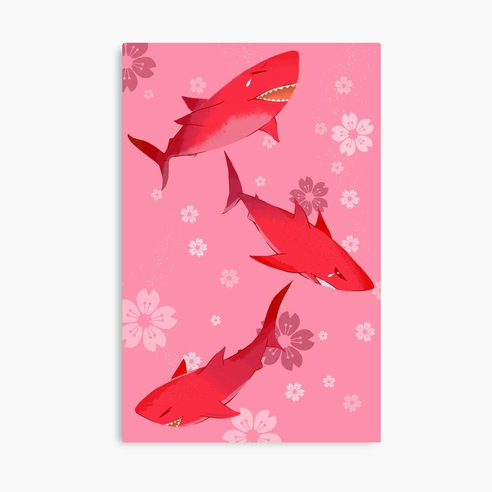 Sakura Shark Canvas Print