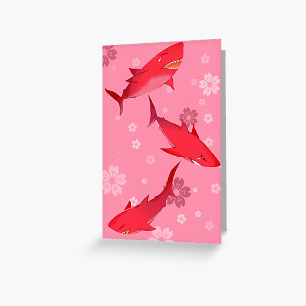 Sakura Shark Greeting Card