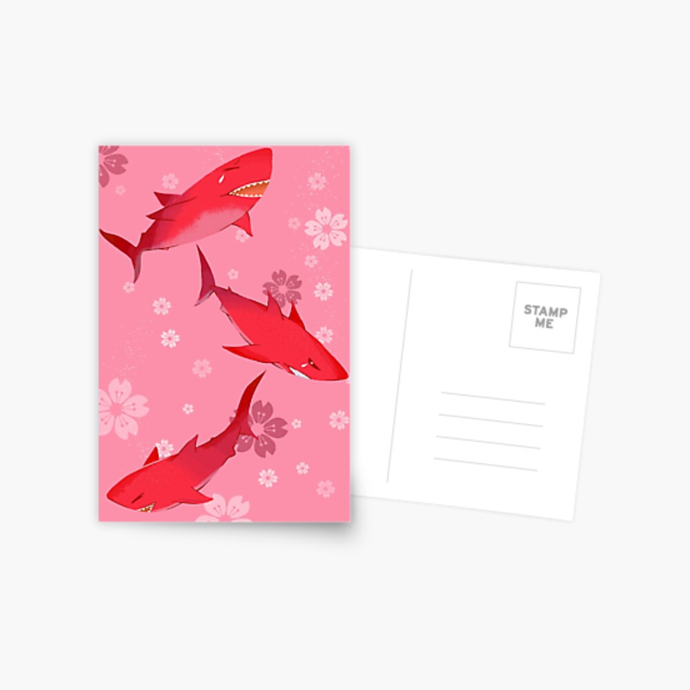 Sakura Shark Postcard