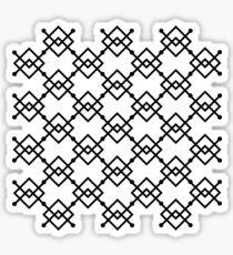 Black and White 1 Sticker
