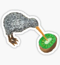 Kiwi Eating Kiwi Sticker