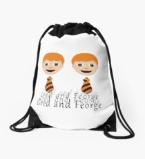 Gred and Feorge Drawstring Bag