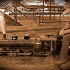 Riding the rails by UncaDeej