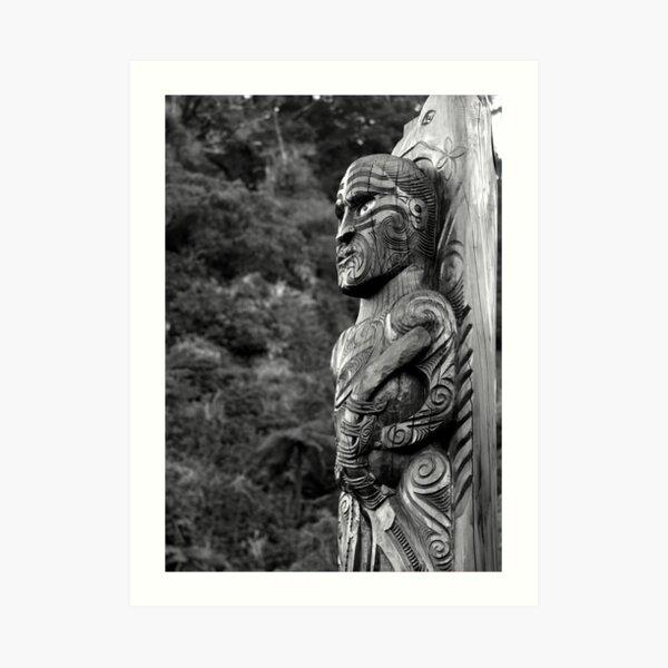 Maori Carving Art Print