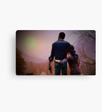 Clementine & Lee- The Walking Dead Game Canvas Print