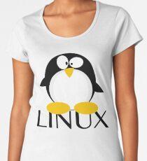 Linux Penguin Women's Premium T-Shirt