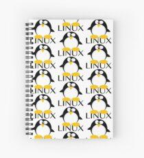 Linux Penguin Spiral Notebook