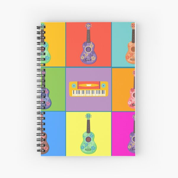 Ukulele Cartoon Spiral Notebook By Gsquiers Redbubble