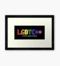 LGBTC++ - LGBT Programmer Sticker/Shirt Framed Print