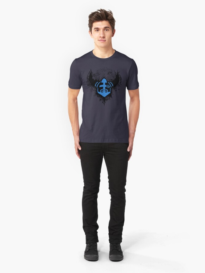 Alternate view of Megaran: Symphonies of the Knight- Black & Blue Slim Fit T-Shirt