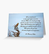 Put aside all anxious thoughts (dedicated to Ella Pryor) Greeting Card