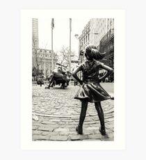 Lámina artística Fearless Girl & Bull NYC