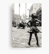 Fearless Girl & Bull NYC Canvas Print