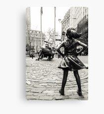 Fille sans peur et Bull NYC Impression sur toile