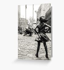 Tarjeta de felicitación Fearless Girl & Bull NYC