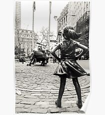 Fearless Girl & Bull NYC Poster