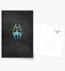 Skyrim Logo - Forest Scene Embossed in Granite Postcards