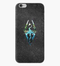 Skyrim Logo - Forest Scene Embossed in Granite iPhone Case