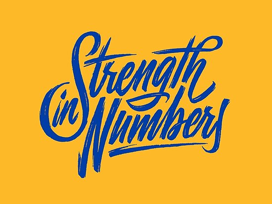 Quot Strength In Numbers Quot Posters By Khinbaru Redbubble