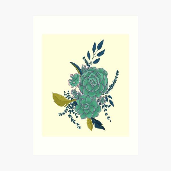 Succulent Bouquet Art Print