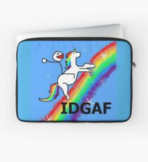 IDGAF pegasus rainbow Laptop Sleeve