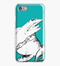 Green Frog -What? iPhone Case/Skin
