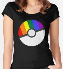 Pokemon 'Prideball' LGBT Pokeball Shirt/Hoodie/etc Women's Fitted Scoop T-Shirt