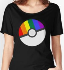 Pokemon 'Prideball' LGBT Pokeball Shirt/Hoodie/etc Women's Relaxed Fit T-Shirt