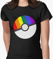 Pokemon 'Prideball' LGBT Pokeball Shirt/Hoodie/etc Womens Fitted T-Shirt