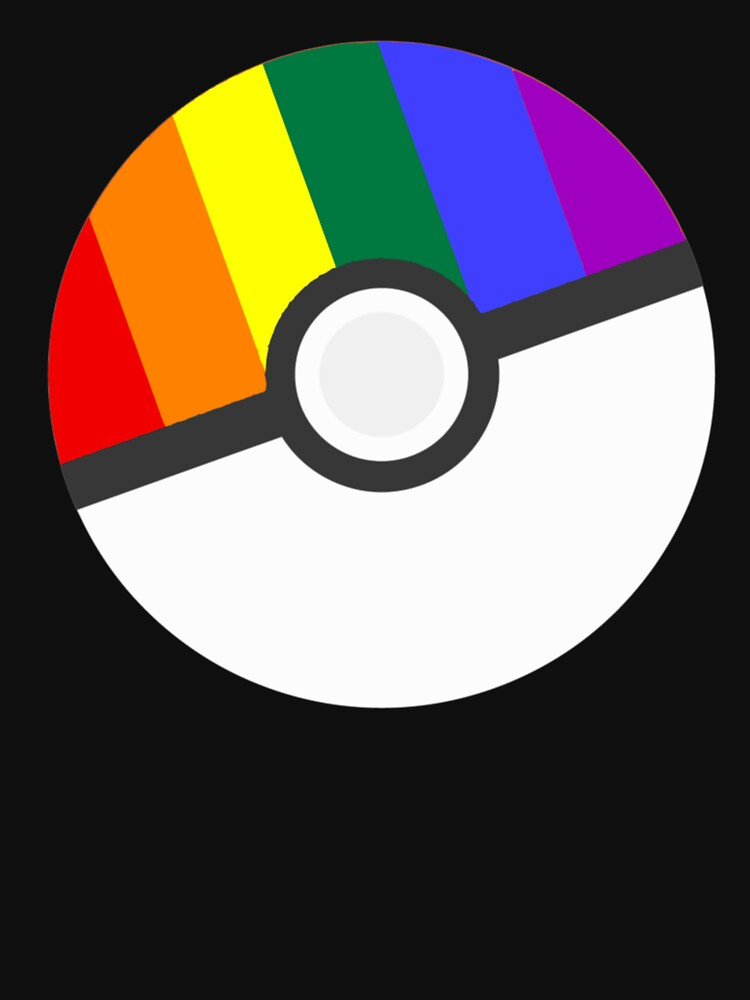 Pokemon 'Prideball' LGBT Pokeball Shirt/Hoodie/etc | Unisex T-Shirt