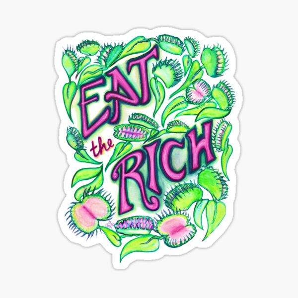 """""""Eat The Rich"""" Flytraps Sticker"""