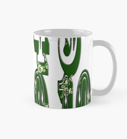 Green canal flowers numbers  Mug