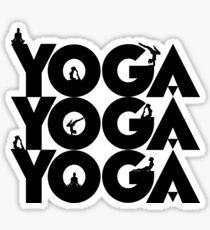 Yoga namaste in black Sticker