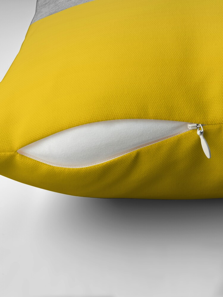 Alternate view of Concrete and Mustard Color Block  Throw Pillow