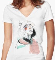 COLLABORATION ELENA GARNU/JAVI CODINA Camiseta entallada de cuello en V