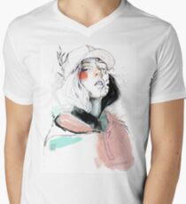 COLLABORATION ELENA GARNU / JAVI CODINA Men's V-Neck T-Shirt