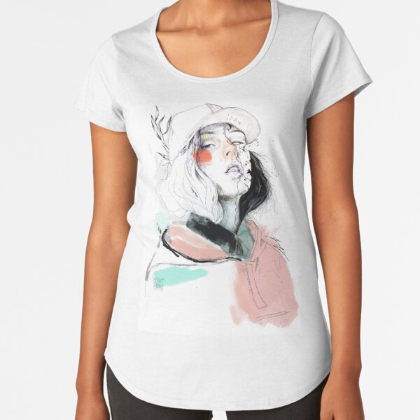 COLLABORATION ELENA GARNU / JAVI CODINA Premium Scoop T-Shirt