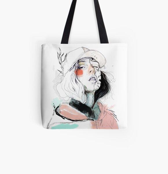 COLLABORATION ELENA GARNU / JAVI CODINA All Over Print Tote Bag