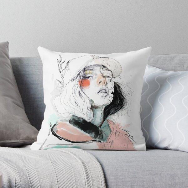 COLLABORATION ELENA GARNU / JAVI CODINA Throw Pillow