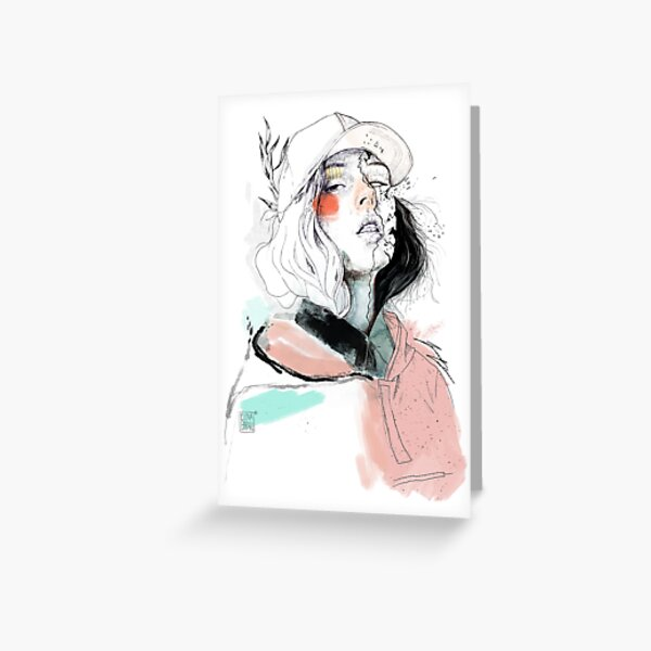 COLLABORATION ELENA GARNU / JAVI CODINA Greeting Card