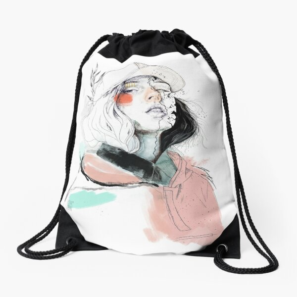 COLLABORATION ELENA GARNU / JAVI CODINA Drawstring Bag