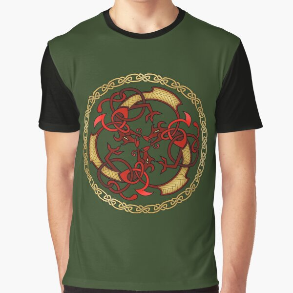 "Þrírdreki ""the Three Dragons"" Graphic T-Shirt"
