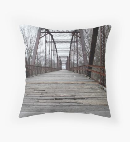 Historic Bridge Throw Pillow